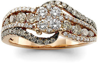 LeVian CORP LIMITED QUANTITIES! Le Vian Grand Sample Sale Ring featuring Vanilla Diamonds, Chocolate Diamonds set in 14K Strawberry Gold