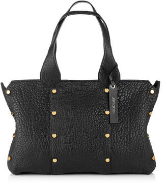 Jimmy Choo LOCKETT SHOPPER/S Black Grainy Leather Tote Bag