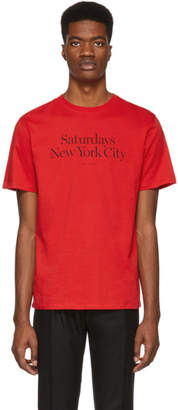 Saturdays NYC Red Miller Standard T-Shirt