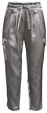 Ramy Brook Women's Allyn Satin Cargo Pants