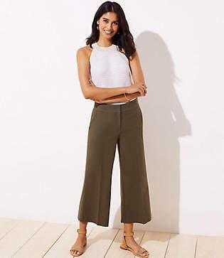 LOFT Petite Wide Leg Riviera Pants