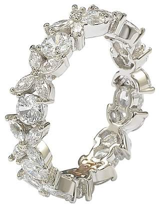 LeVian Suzy Jewelry Suzy Sterling Silver CZ Floral Eternity Band
