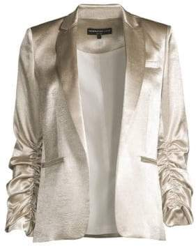 Generation Love Fabien Satin Ruched Sleeve Blazer
