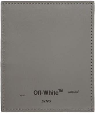 Off-White Grey Seasonal Card Holder