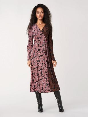Diane von Furstenberg Tilly Silk Crepe de Chine Wrap Dress