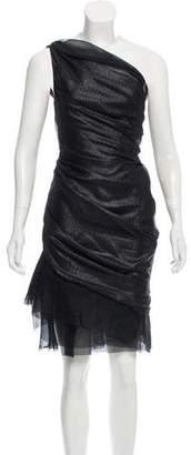 J. Mendel One-Shoulder Knee-Length Dress