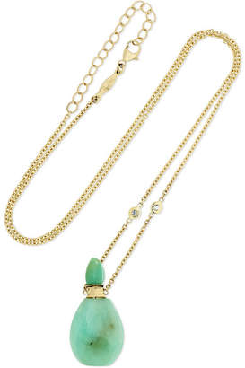 Jacquie Aiche 14-karat Gold, Chrysoprase And Diamond Necklace - one size