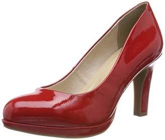 Marco Tozzi Women's 2-2-22421-22 Platform Heels, (Red Patent 524)