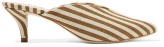 Loeffler Randall Juno Striped Canvas Mules - Tan