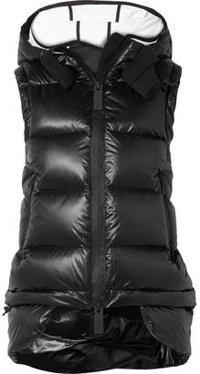 TEMPLA - Nano Hooded Tech-jersey And Quilted Shell Down Gilet - Black