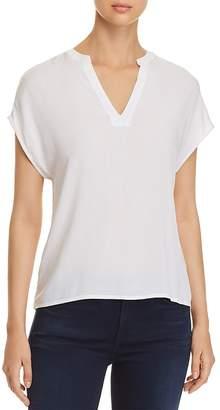 Vero Moda Lou Notched-Neck Short Sleeve Top