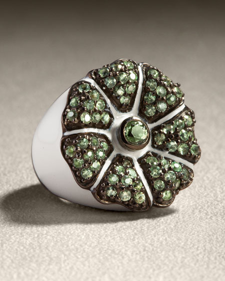 MCL by Matthew Campbell Laurenza Enamel Ring, White