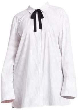 Lafayette 148 New York Lafayette 148 New York, Plus Size Annaliese Pinstripe Shirt