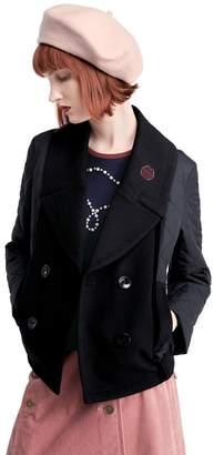 Sonia Rykiel (ソニア リキエル) - SONIA RYKIEL COLLECTION メルトンMIXキルト ショート丈アウター(C)FDB