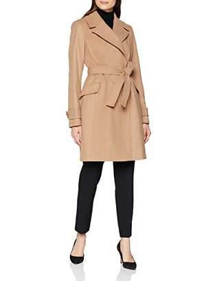 Dorothy Perkins Women's Belted wrap Coat, (Manufacturer Size:)