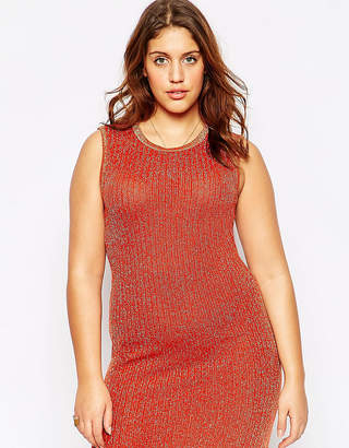 Asos Bodycon Dress in Metallic Yarn