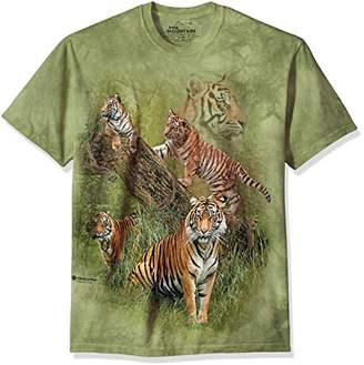 The Mountain Wild Tiger Collage Adult T-Shirt,5XL