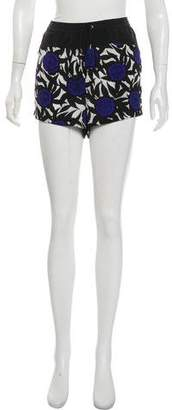 Rebecca Minkoff Silk Floral Mini Shorts