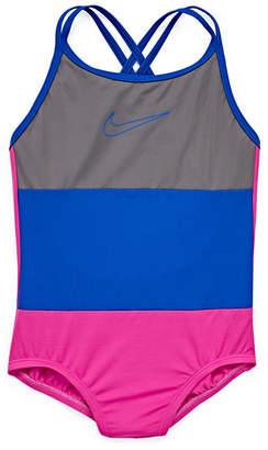 Nike Pattern One Piece Swimsuit Big Kid Girls