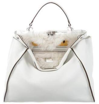 Fendi Large Monster Fur   Crocodile Peekaboo Satchel 1a8b94a793175