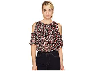 Kate Spade Mini Casa Flora Cold Shoulder Top Women's Clothing