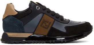 Fendi Navy Retro Sneakers