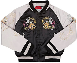 Haus of JR Embroidered Bomber Jacket $94 thestylecure.com