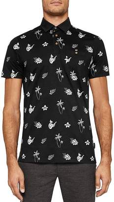 Ted Baker Midge Tropical Print Polo Shirt