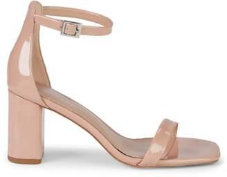 BCBGeneration Talia Patent Stack Heel Sandals