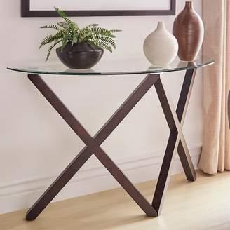 Homevance HomeVance Acama Contemporary Glass Top Console Table