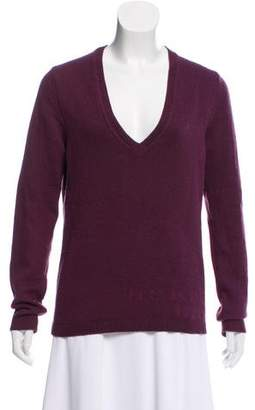 Burberry V-Neck Wool Sweater