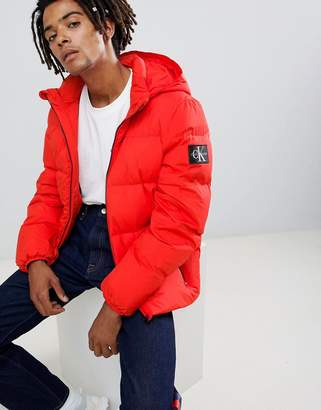 Calvin Klein Jeans puffer jacket with logo patch