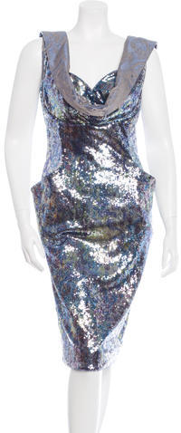 Vivienne Westwood Sequined Sheath Dress