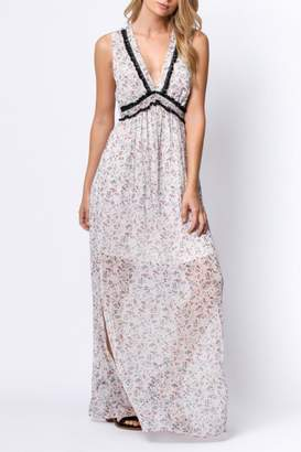 Paper Crane Floral Maxi Dress