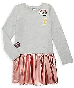 Hatley Little Girl's & Girl's Pretty Patches Metallic Twofer Dress