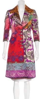Etro Wool & Silk-Blend Coat