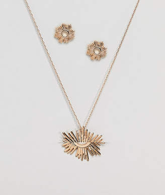 NY:LON Star Burst Necklace And Earring Gift Set
