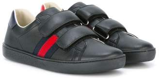 Gucci Kids hook and loop sneakers