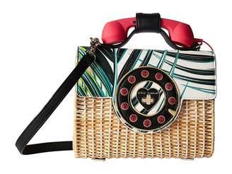 Betsey Johnson Wicker Phone Bag Handbags