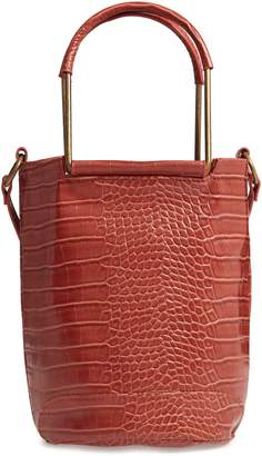 T-Shirt & Jeans Croc Embossed Faux Leather Tote