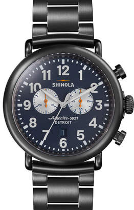Shinola Men's 47mm Runwell Chronograph Watch, Navy