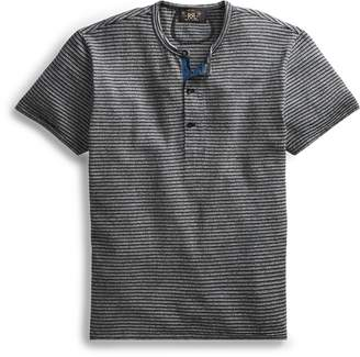 Ralph Lauren Indigo Striped Cotton Henley