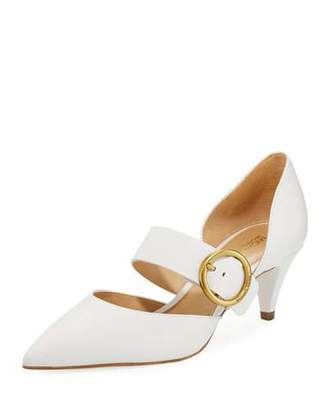 MICHAEL Michael Kors Estelle Leather Kitten-Heel Mary Jane Pumps