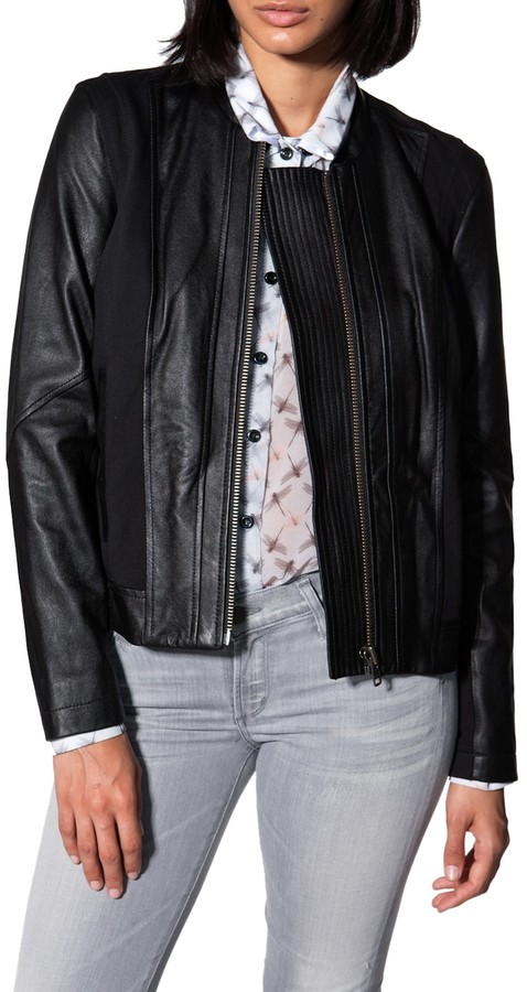 Helmut Lang Combo Leather Jacket