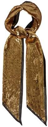 Saint Laurent Sequinned Virgin Wool Chiffon Scarf - Womens - Gold