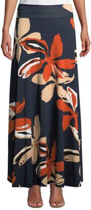 Rachel Pally Long Full Floral-Print Skirt