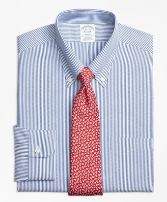 Brooks Brothers Regent Fitted Dress Shirt, Non-Iron Dobby Candy Stripe