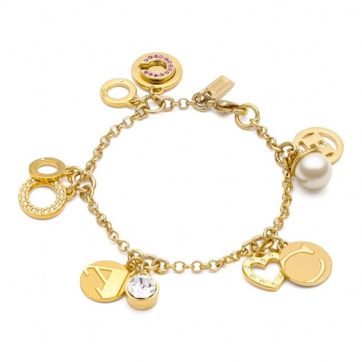Pave Coach Petite Charm Bracelet