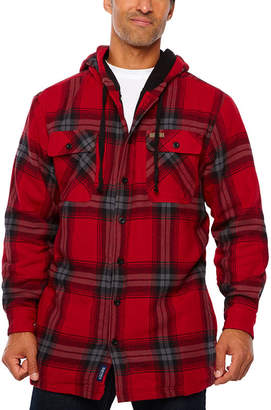 Smith Workwear Smith Microfleece Lined Hooded Flannel Shirt Jacket
