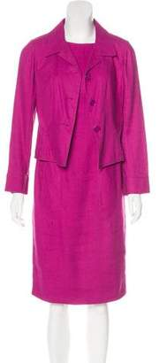 Valentino Linen-Blend Knee-Length Dress Set